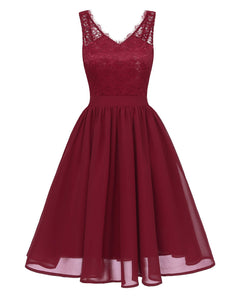 1950s Lace Patchwork Swing Dress