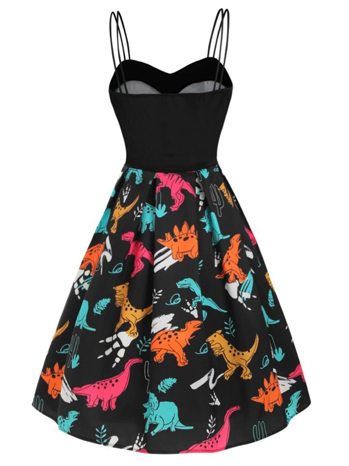 1950s Dinosaurs Strap Swing Dress