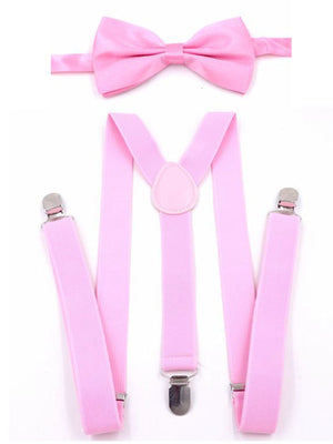 Retro Men's Bow Tie and Suspenders Set