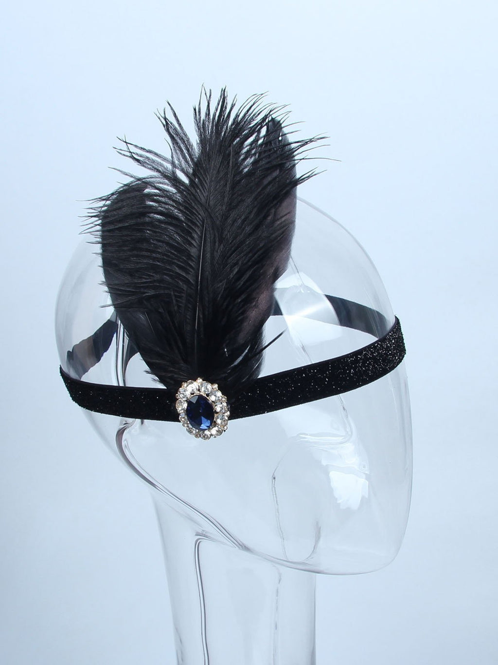 1920s Feather Flapper Headband AH011 - DelaFur Wholesale