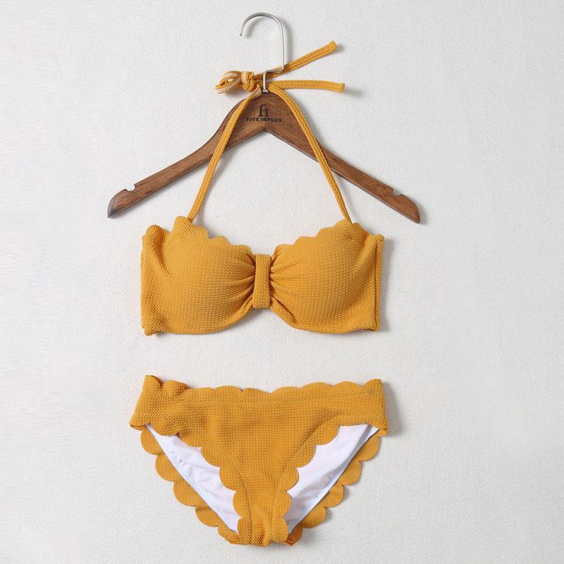 Two Pieces Swimsuit AH113 - DelaFur Wholesale