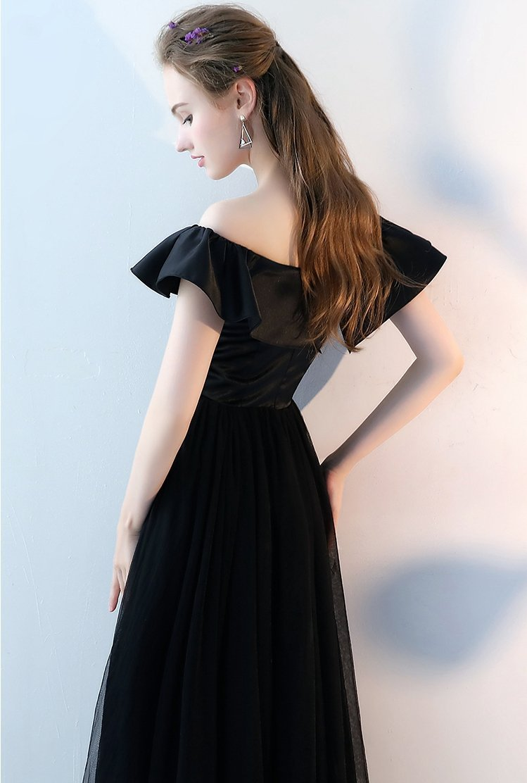 Black Long Prom Dress, Red Evening Dress