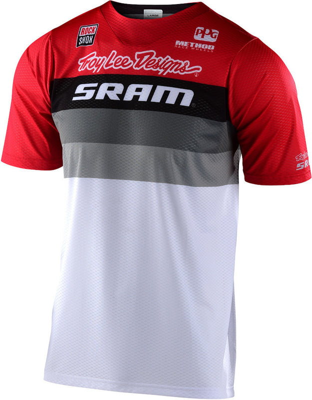 Troy Lee Design Jersey Skyline Air Continental SRAM white/red