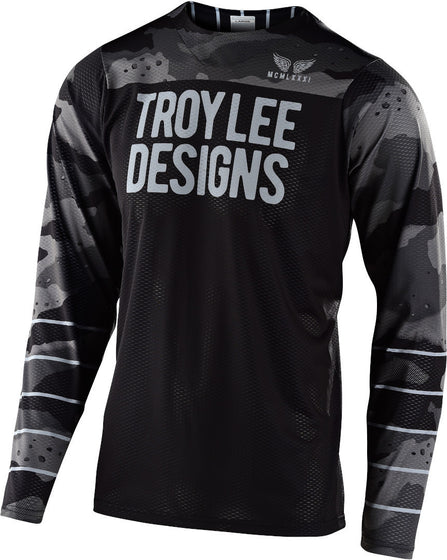 Troy Lee Designs Jersey Skyline Air Pinstripe Camo Gray/black