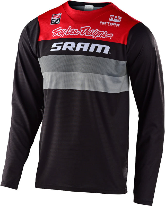 Troy Lee Designs Jersey Skyline Ls Continental SRAM black/red