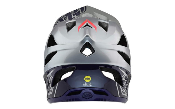Casco Enduro DH Troy Lee Design Stage Argento MIPS