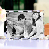 Customized Rectangle Crystal Wedding Personalized Picture Frames For Gifts Home Decor