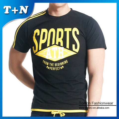 Men's Fitness Printing Cross fit T-Shirts