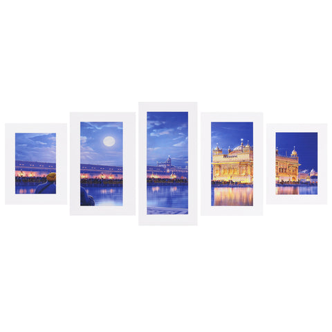5 Pieces Digital Photography Scenery Wall Painting
