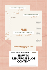 Free Repurposing Content Workbook & Checklist