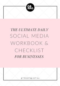 The Ultimate Daily Social Media Workbook & Checklist