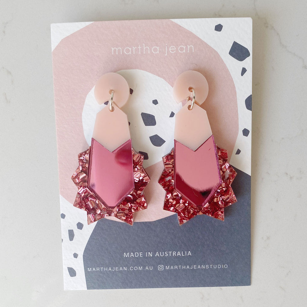 Kapow Earrings - Sweet Pink