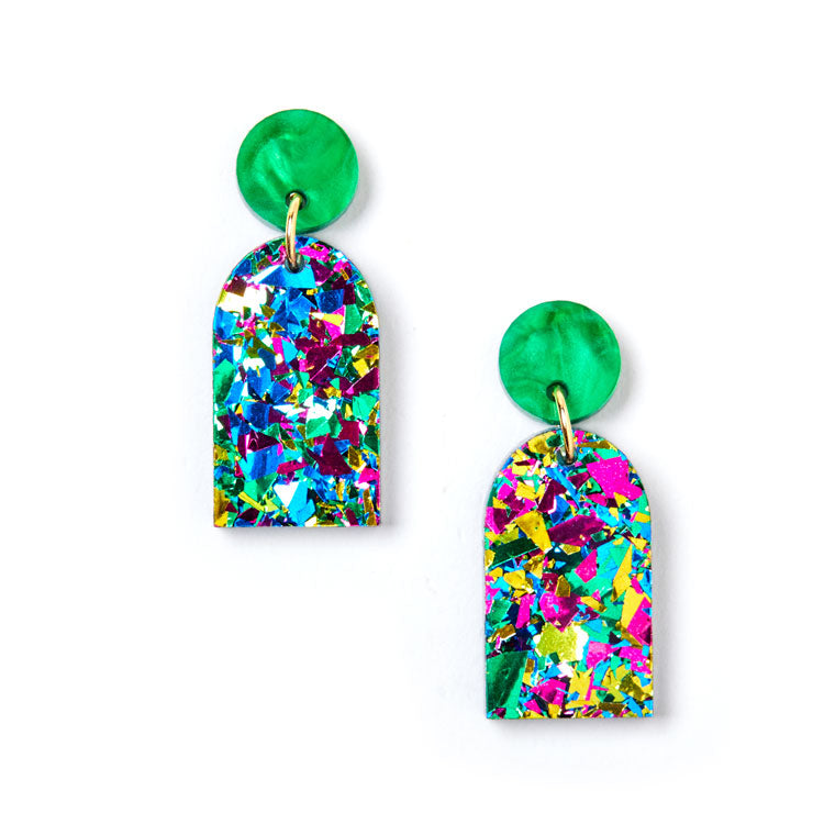 Arc Earrings - Harlequin