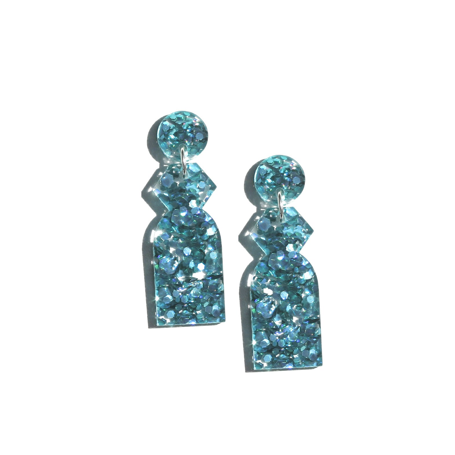 Temple Earrings - Turquoise