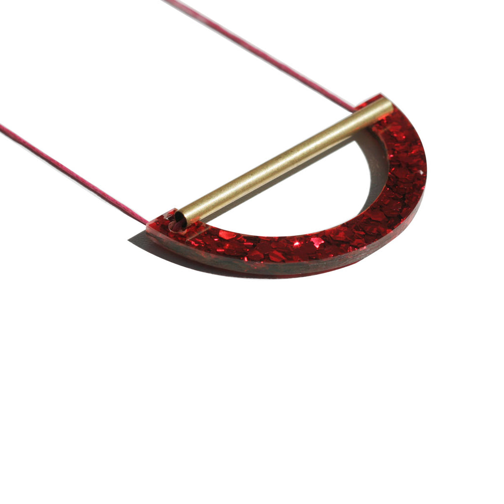 Beam Necklace - Red