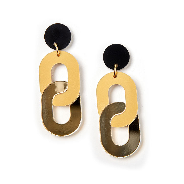Chain Earrings - Gold / Gold