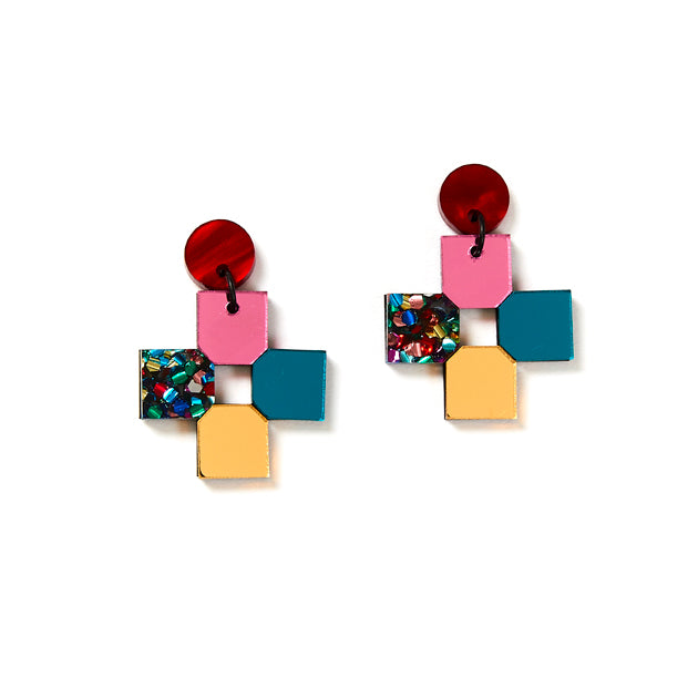 Cross Earrings - Disco