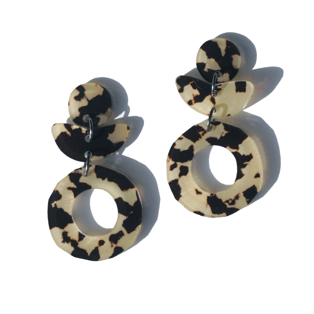 Dune Flower Earrings - Leopard Light