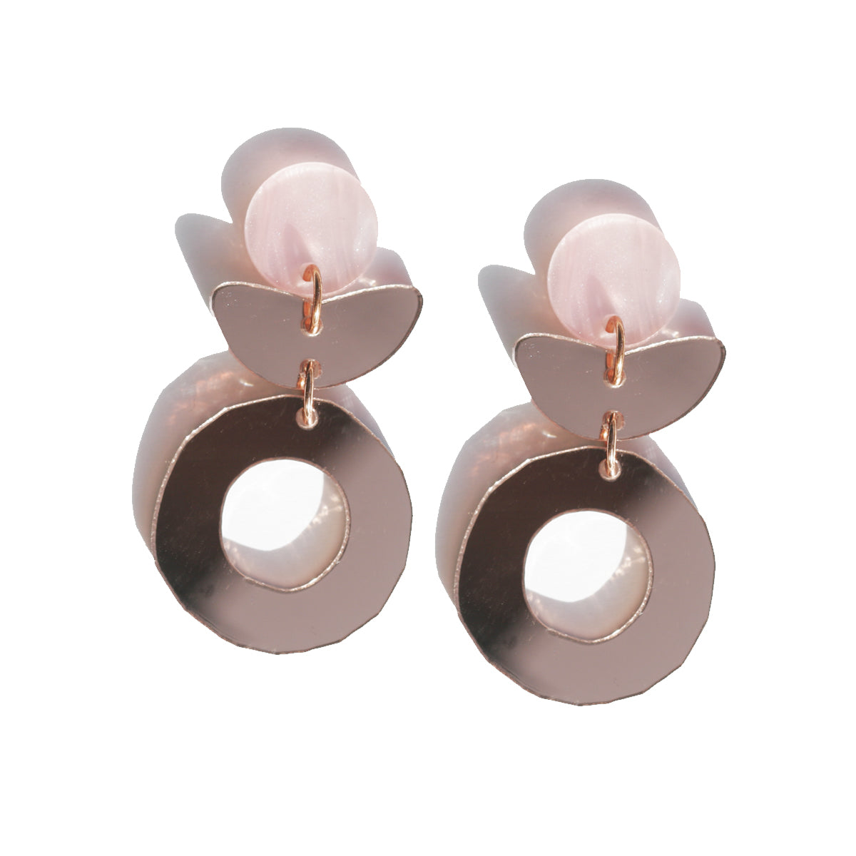 Dune Flower Earrings - Rose Gold