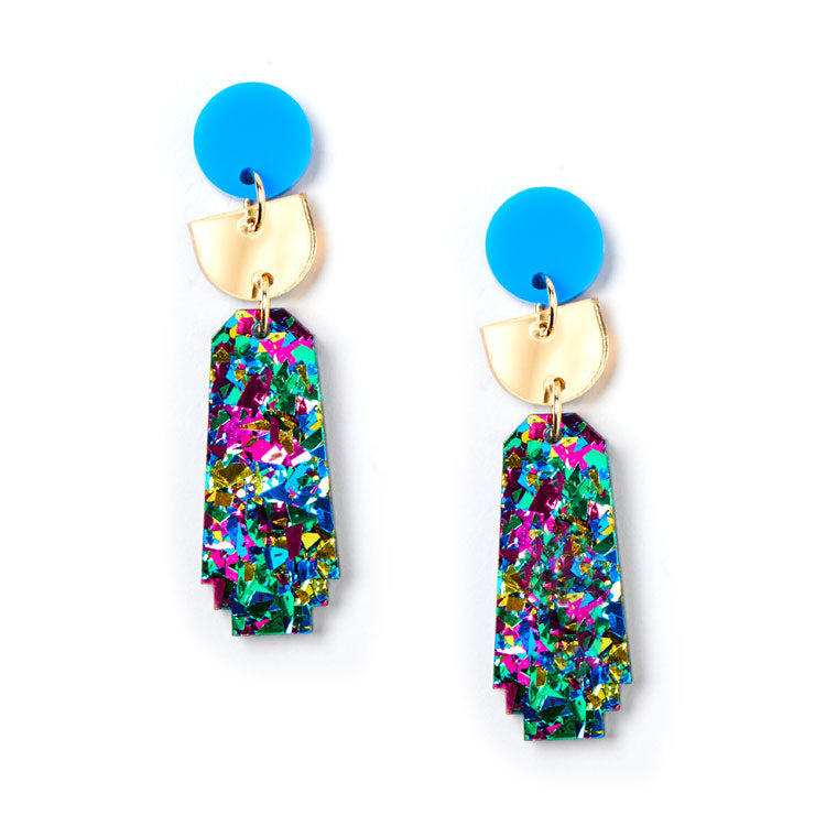Dynasty Earrings - Harlequin