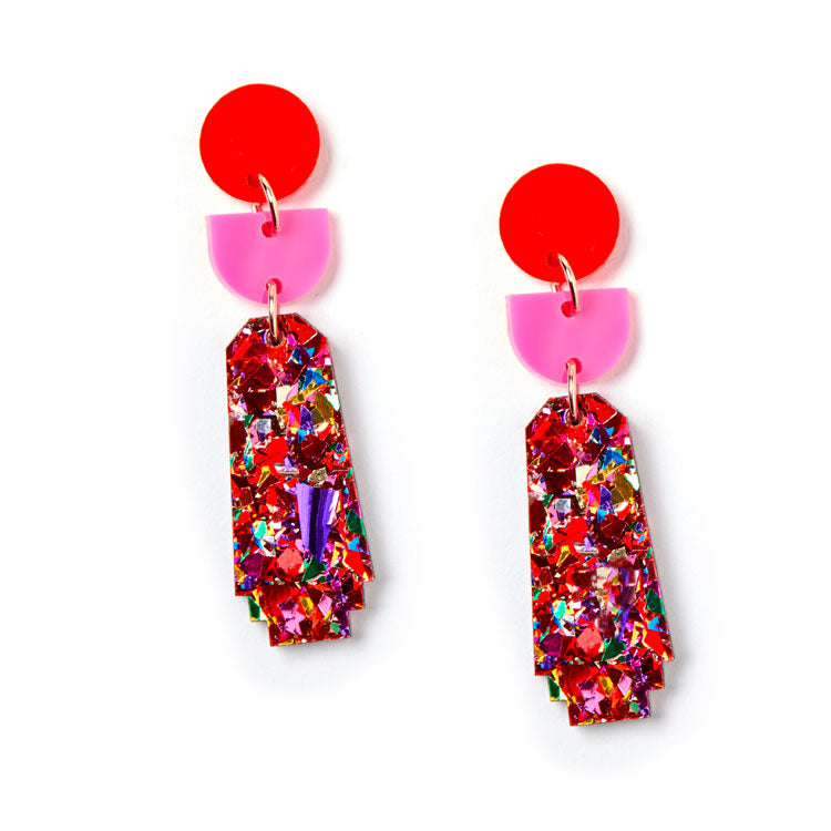 Dynasty Earrings - Scarlet