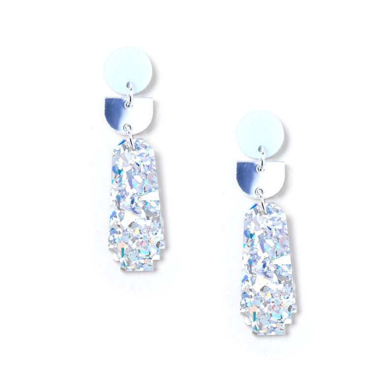 Dynasty Earrings - Silver / Iridescent