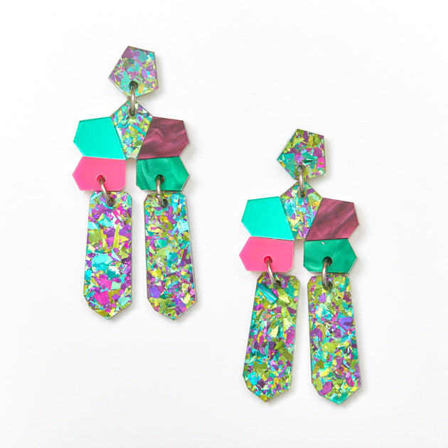 Dream Earrings - Green / Multi