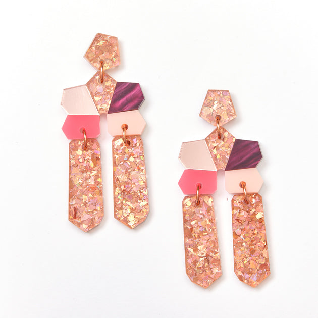 Dream Earrings - Pink