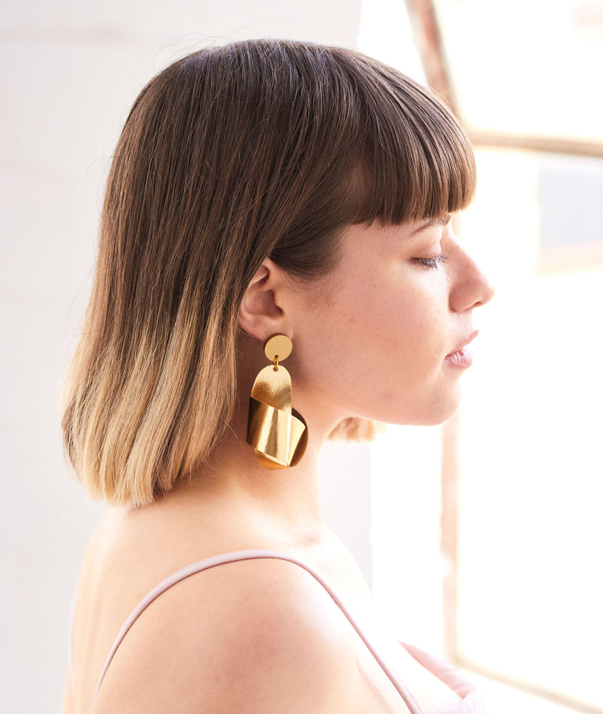 Knot Earrings - Gold