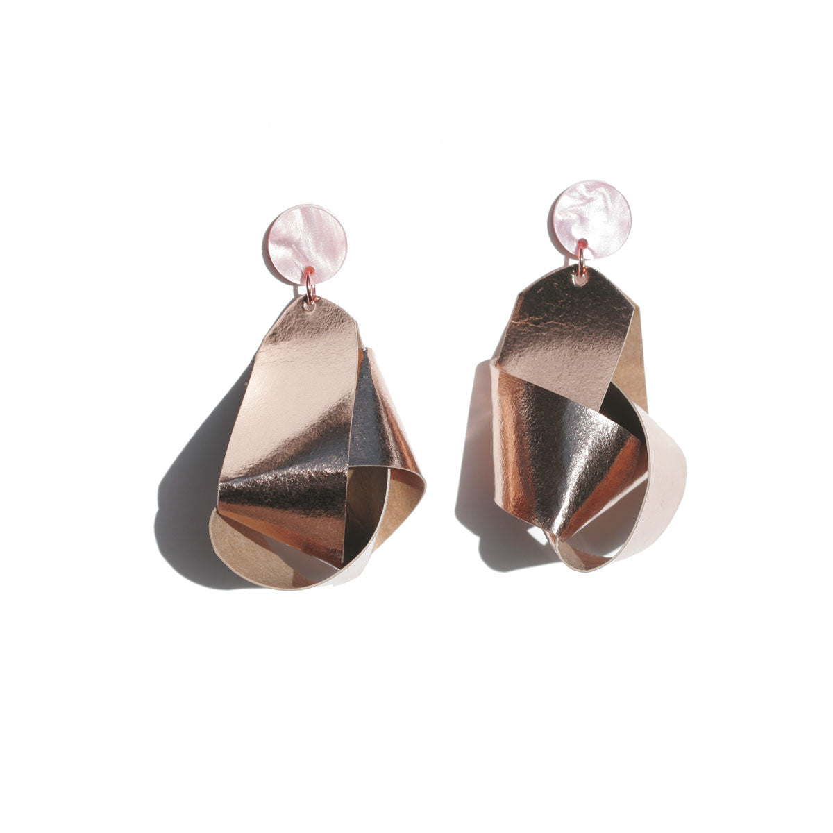 Knot Earrings - Rose Gold