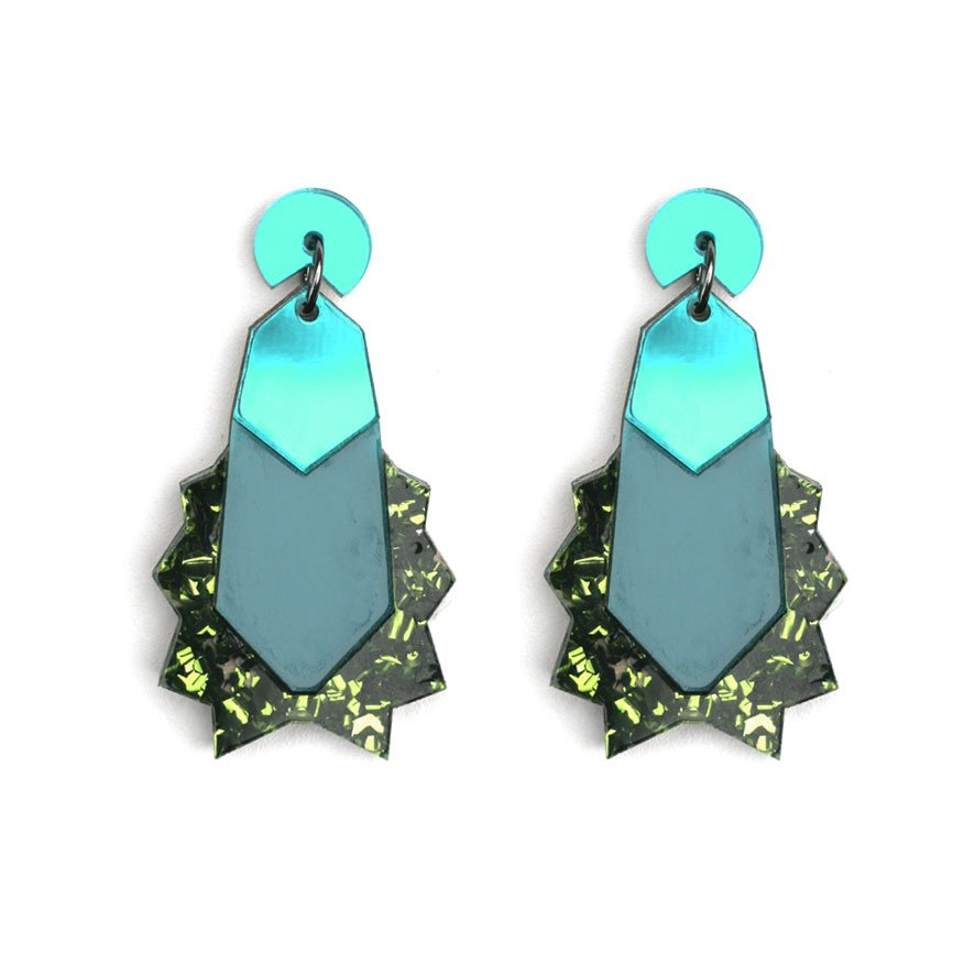 Kapow Earrings - Green