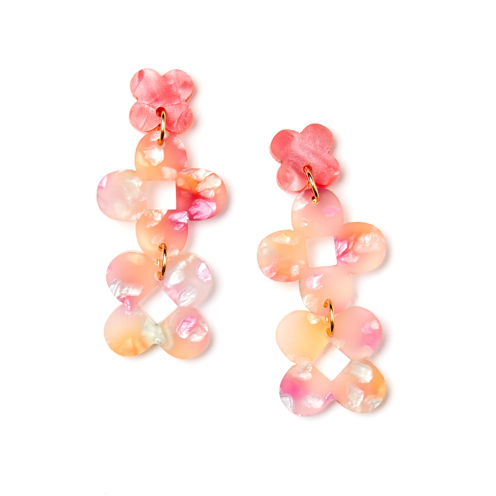 Fraya Earrings - Peach