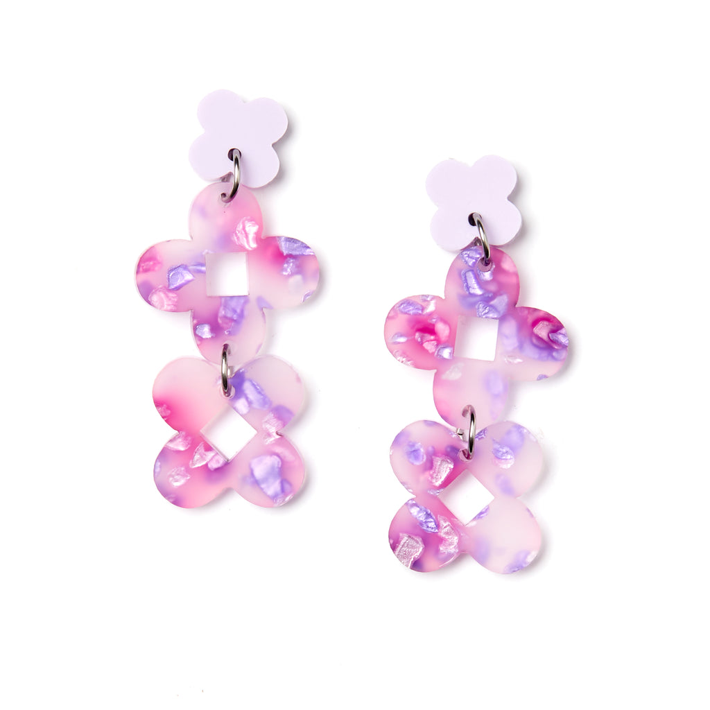 Fraya Earrings - Lilac