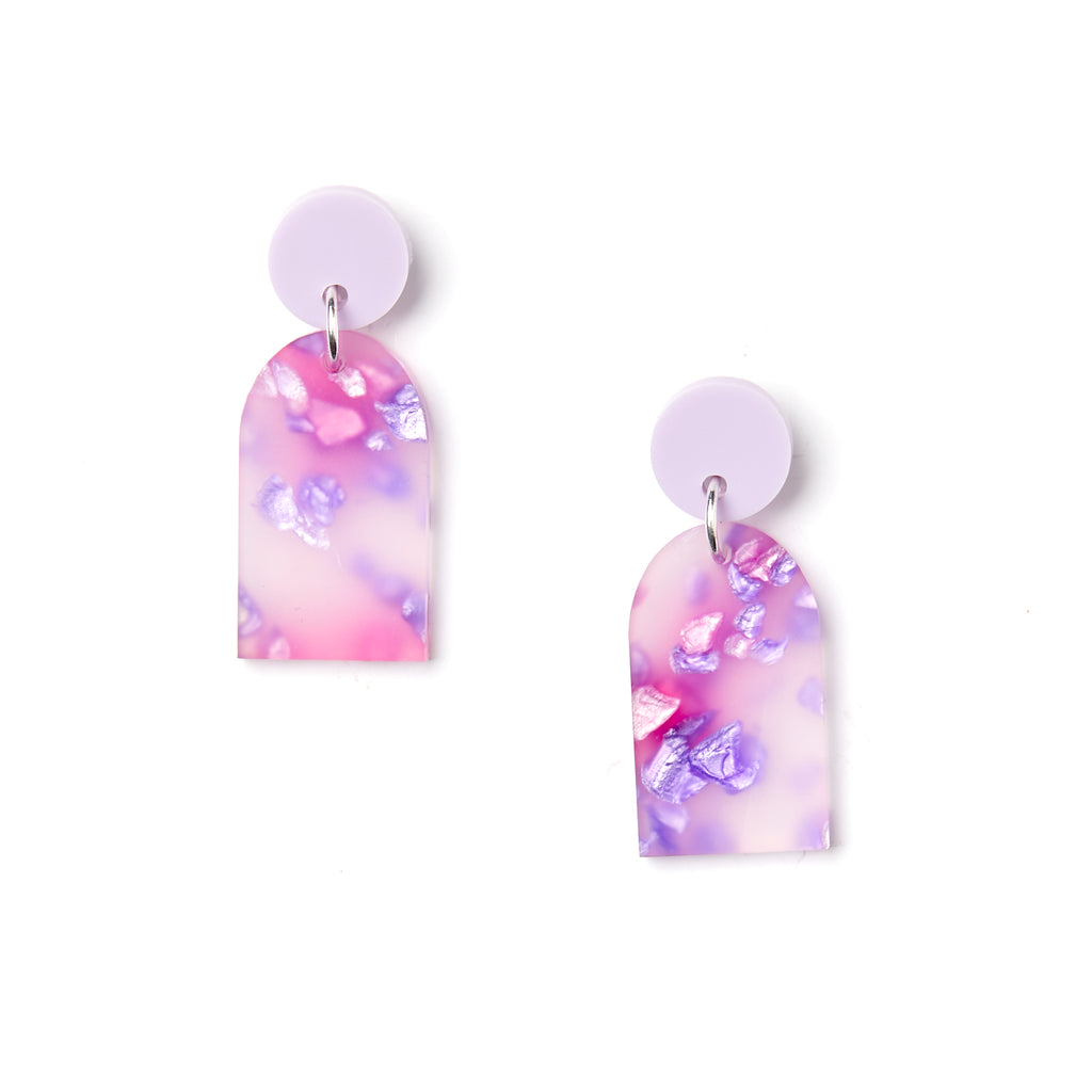 Arc Earrings - Lilac