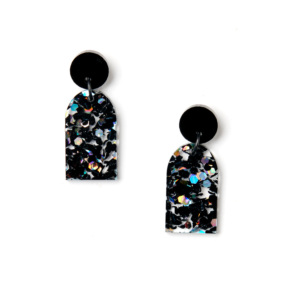 Arc Earrings - Black/Cosmos