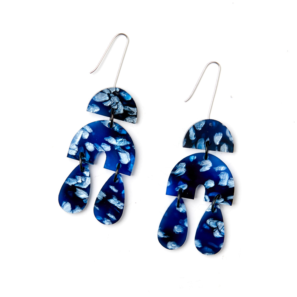 Ivy Earrings - Dark Blue