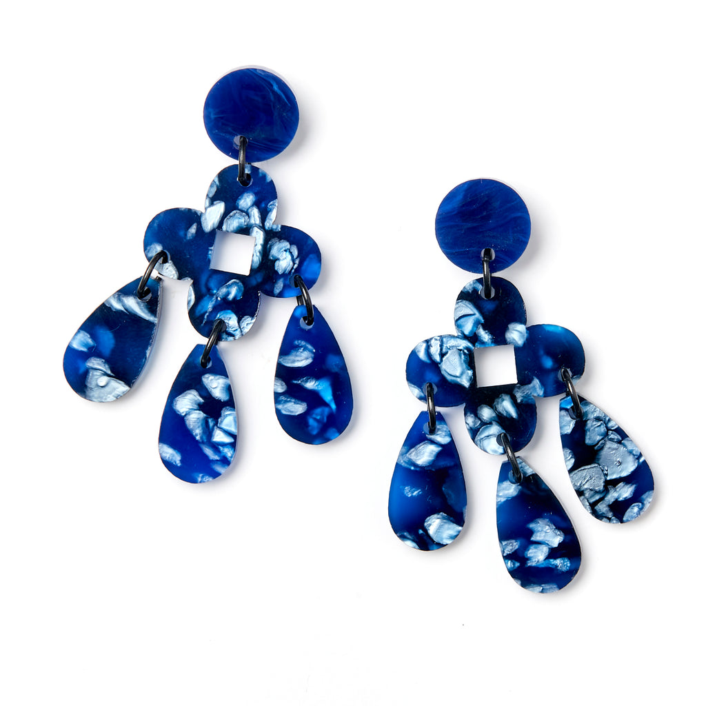 Zara Earrings - Dark Blue