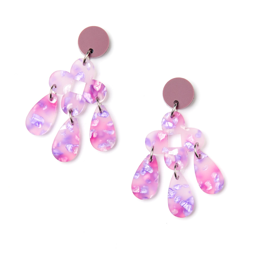 Zara Earrings - Lilac