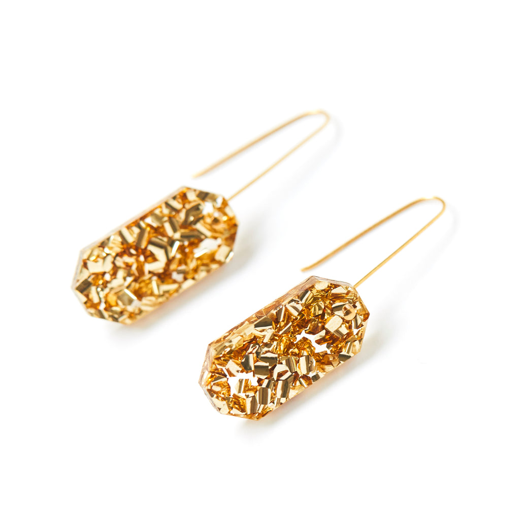 Jewel Drop Earrings - Gold Dust