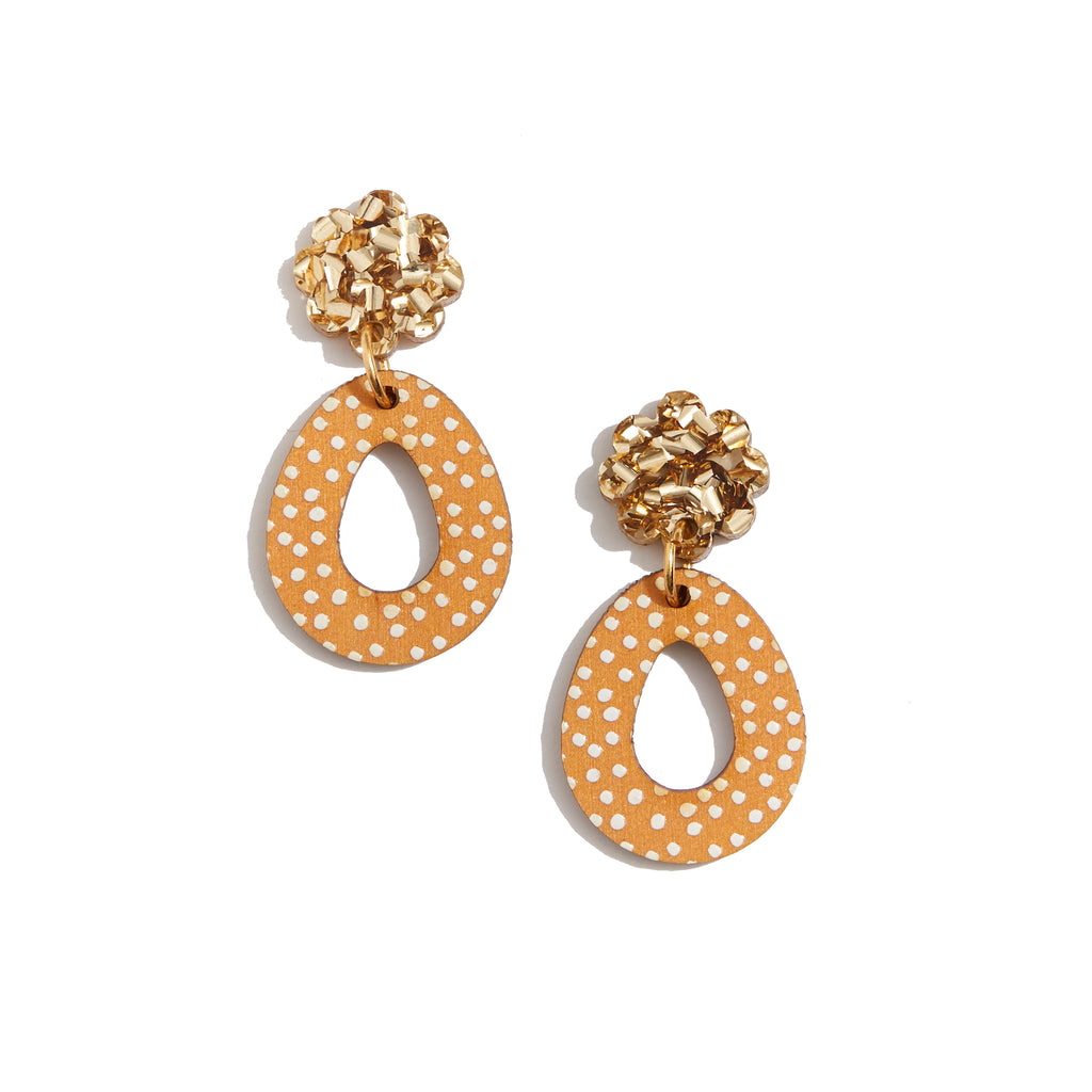 Daisy Earrings - Mustard