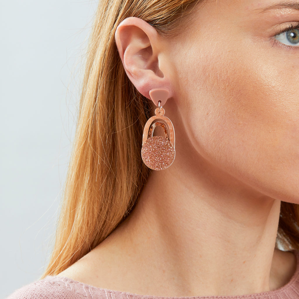 Solace Earrings - Blush