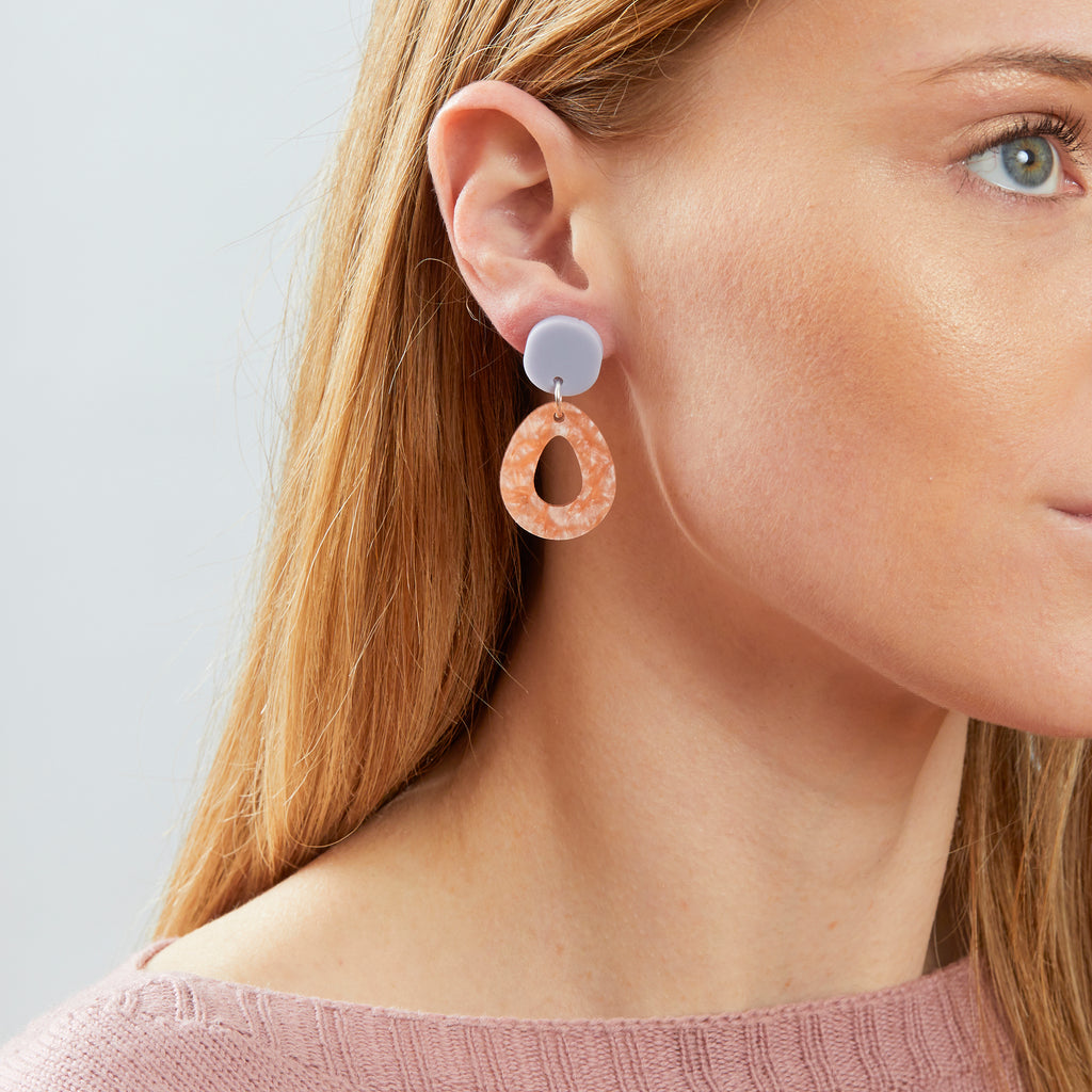 Tempest Earrings - Mist / Orange