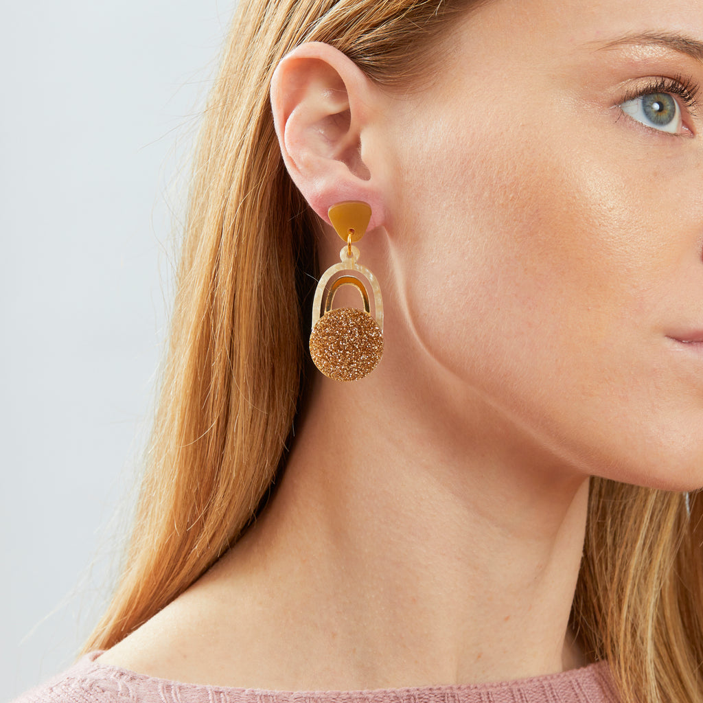 Solace Earrings - Mustard