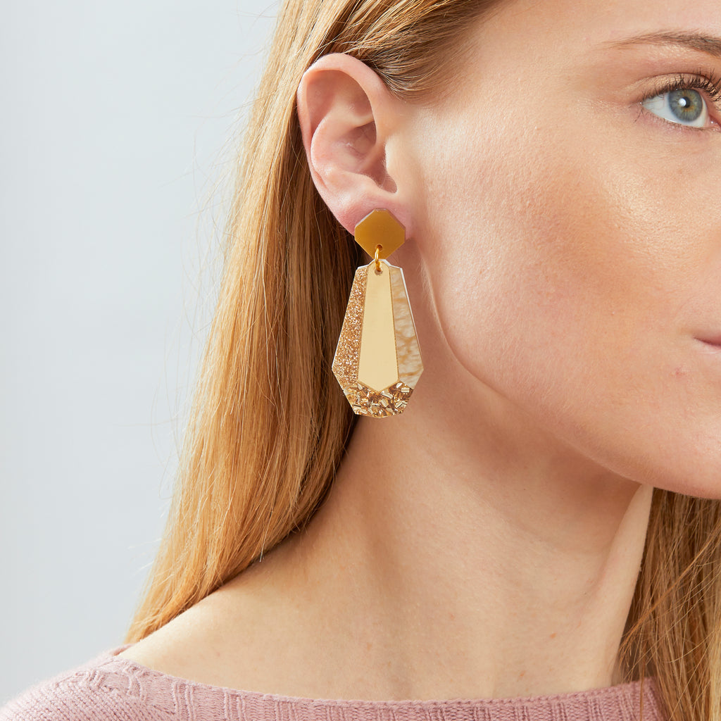 Reva Earrings - Gold