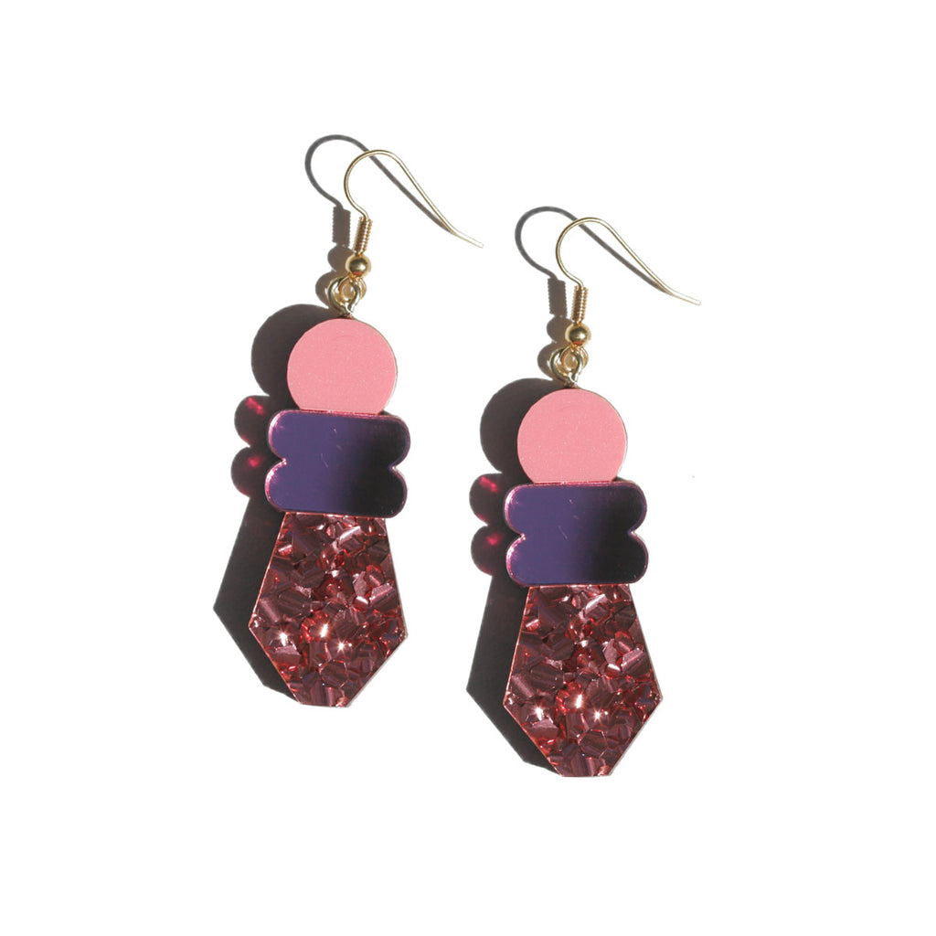 Monument Earrings - Pink