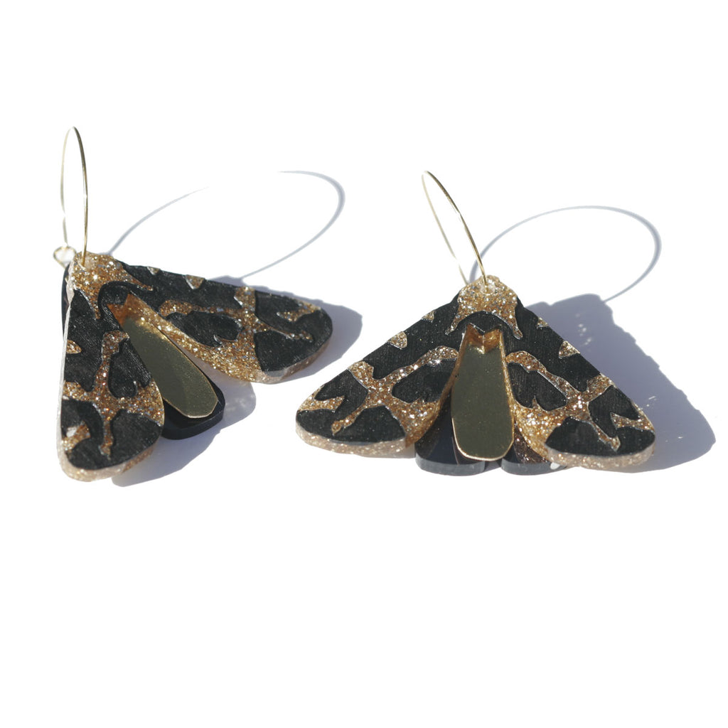 Moth Earrings - Gold