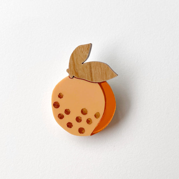 Picture Of Orange Brooch
