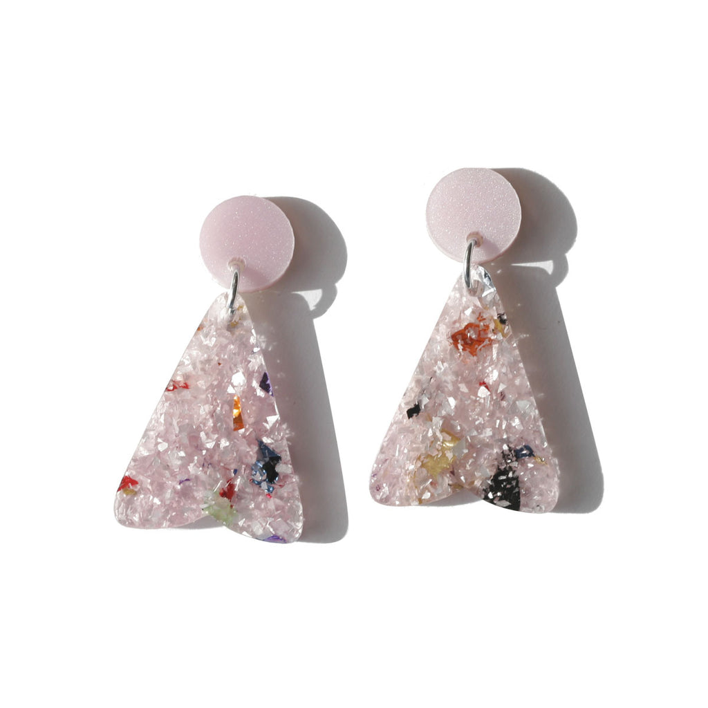 Petal Earrings - Pink Frost