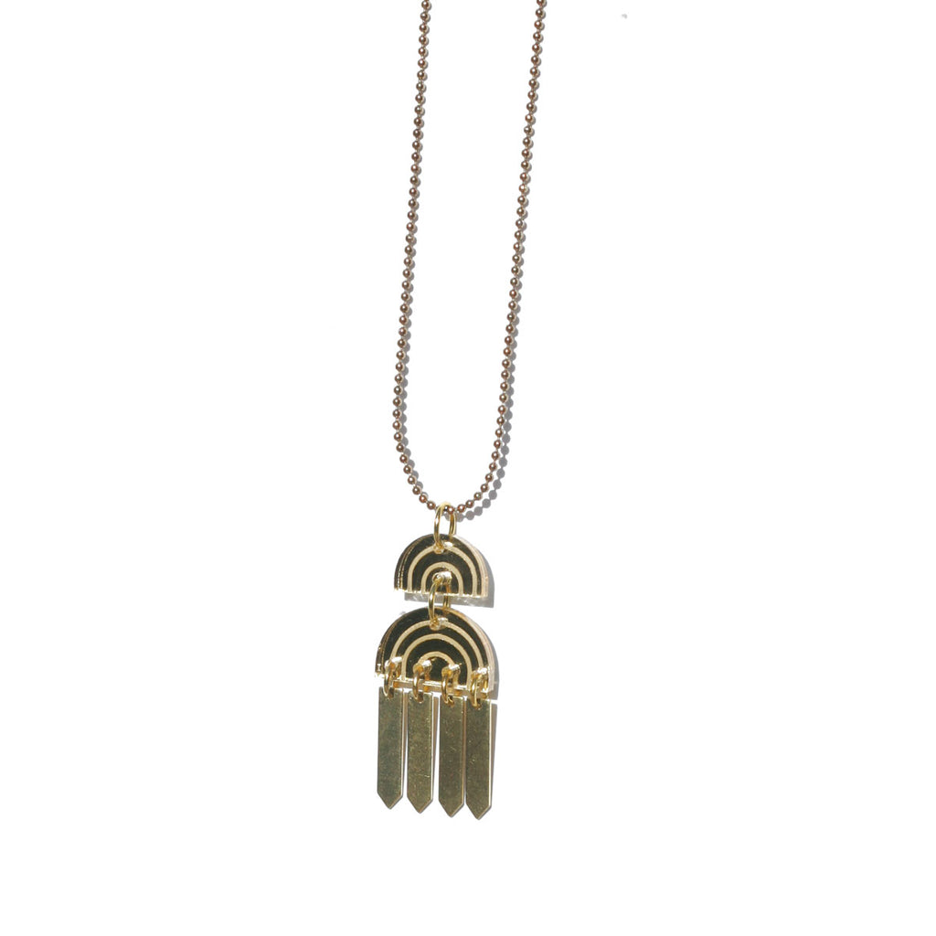 Rainbow Tassel Necklace - Gold