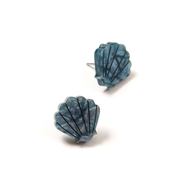 Shell Studs - Storm Grey